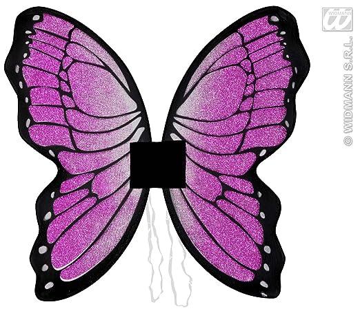 2 opinioni per Widmann- Ali per travestimento da Farfalla con brillantini, Rosa, 50 x 50 cm