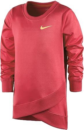 Nike para niñas Dri-fit Cruzado Manga Larga Sudadera, niña, Ember Glow