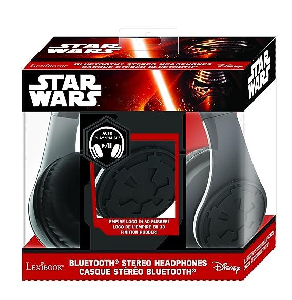 Star Wars - Auriculares estéreo Bluetooth, Diadema, Color Negro (Lexibook BTHP400SW): Amazon.es: Juguetes y juegos