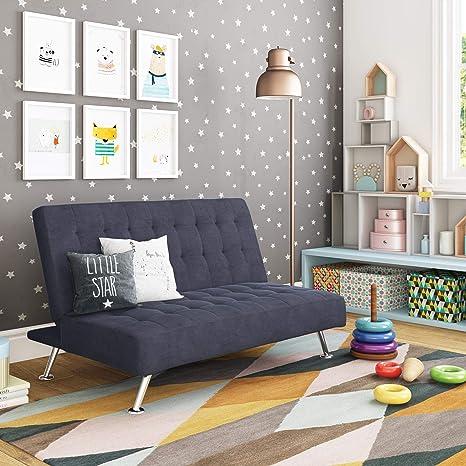 Strange Dhp Ariana Kids Sofa Futon Converts From Futon To Bed For Kids Blue Ibusinesslaw Wood Chair Design Ideas Ibusinesslaworg