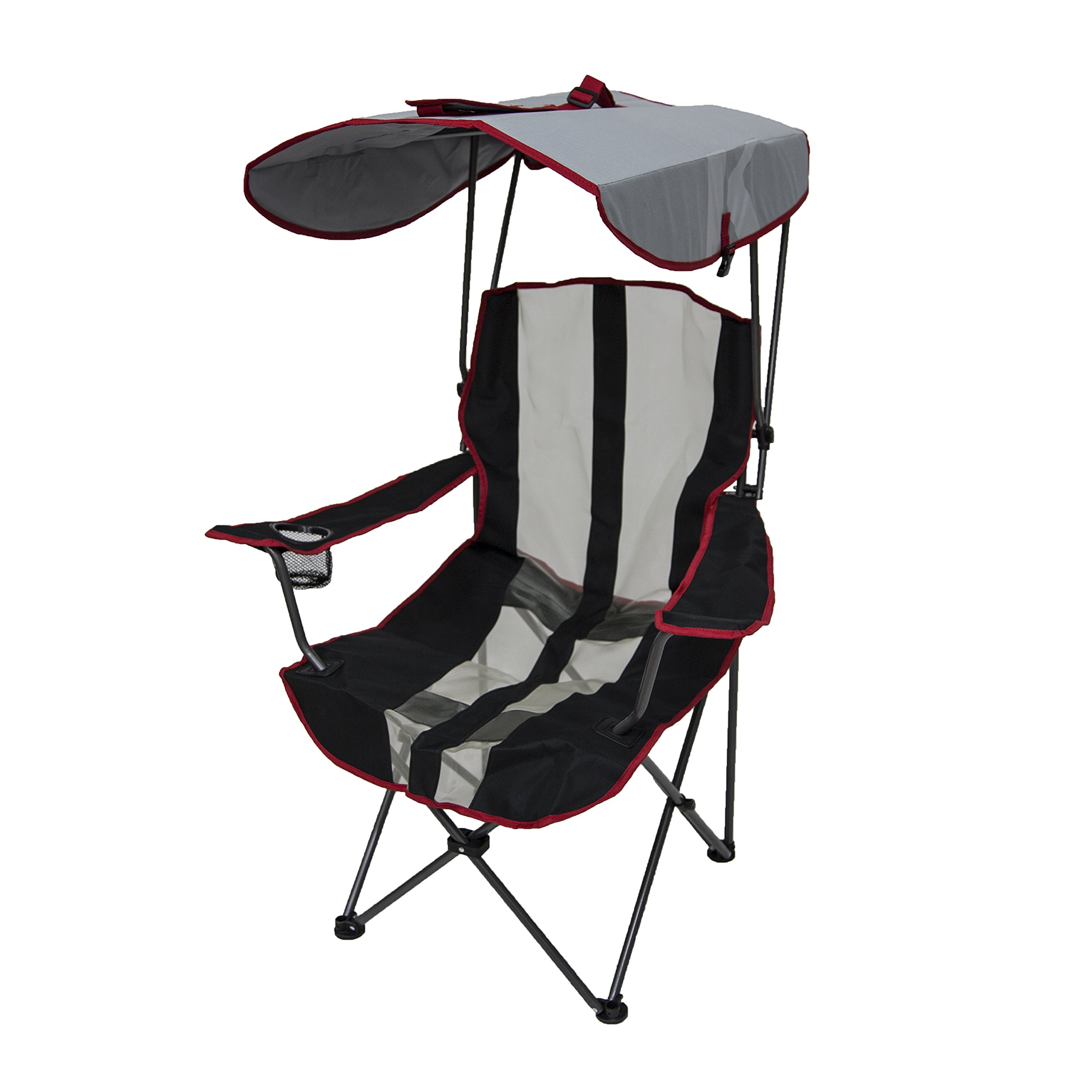 Kelsyus Original Canopy Chair - Foldable Chair for Camping, Tailgates, and Outdoor Events - Red Stripe by Kelsyus