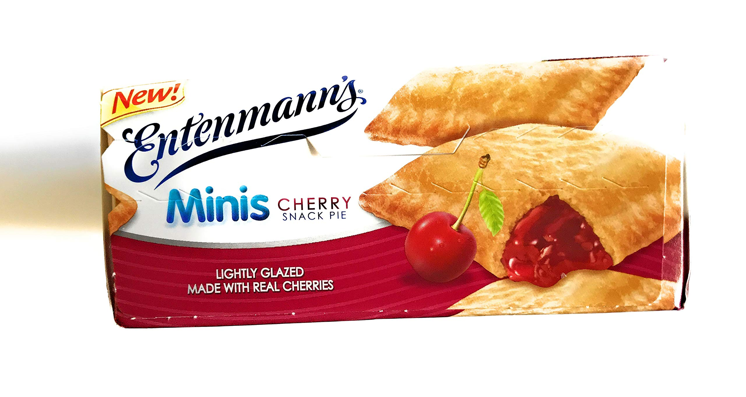 Entenmann's | Minis Cherry Snack Pies| Lightly Glazed | Delicious | Tasty | Yummy | 12 oz | 6 Individually Wrapped count | 1 Box | by Entenmann's