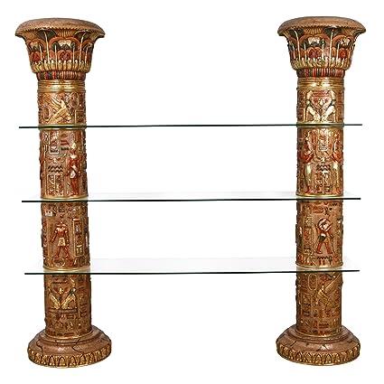 Charmant Amazon.com: Design Toscano Egyptian Columns Of Luxor Shelves, Full Color:  Home U0026 Kitchen