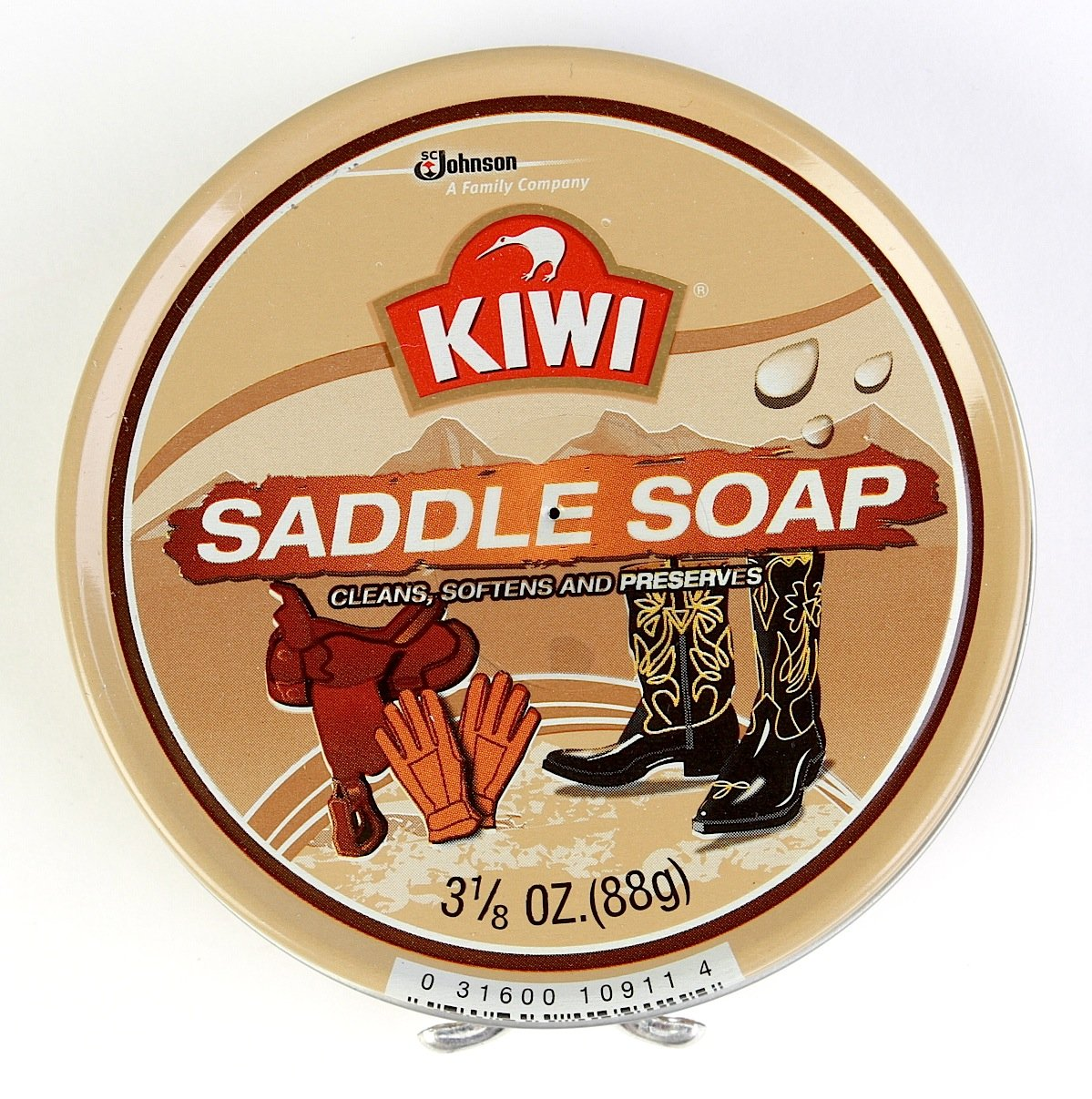 Kiwi Saddle Soap, 3-1/8 oz, 10-Pack