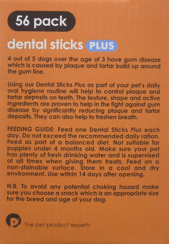 Petface 3-in-1 Dog Dental Sticks, Medium, 56-Piece: Amazon.co.uk ...