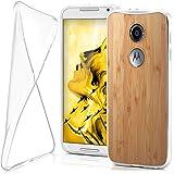 Motorola Moto X2 Hülle Silikon Transparent Klar [OneFlow Clear Back-Cover] TPU Schutzhülle Dünn Handyhülle für Motorola Moto X 2. Generation Case Ultra-Slim Silikonhülle Rückseite