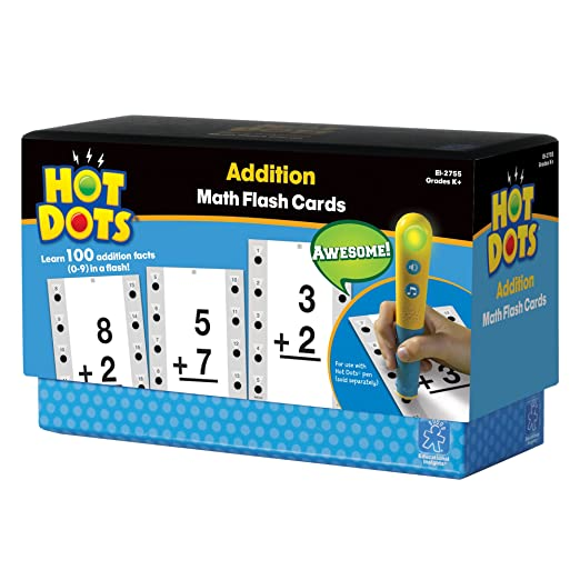 Amazon.com: Educational Insights Hot Dots Math Flash Cards ...