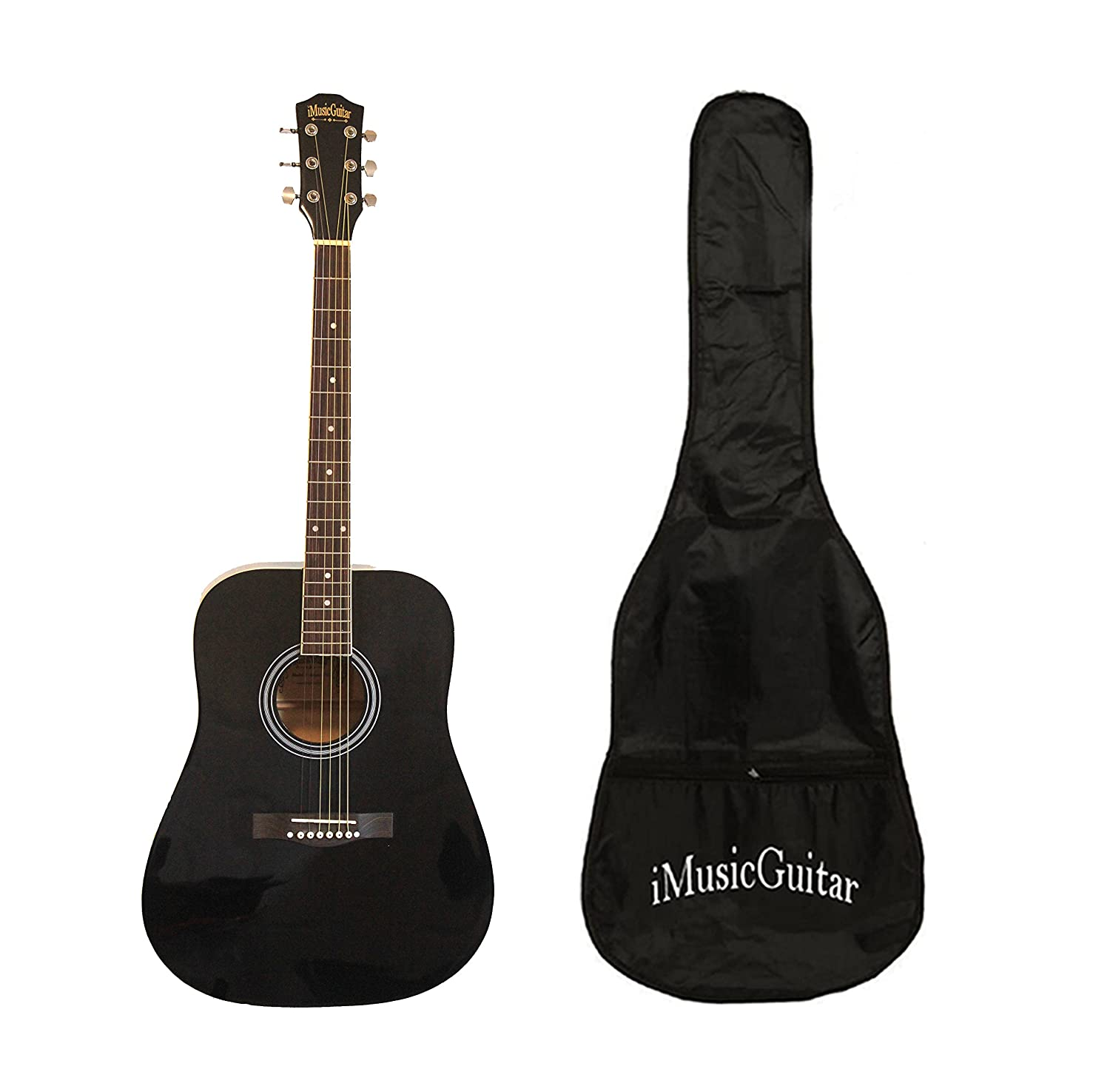 Left handed Acoustic Guitar for beginners 41 inch Full Size iMusic578L with Soft bag iMusicGuitar iMusic579L