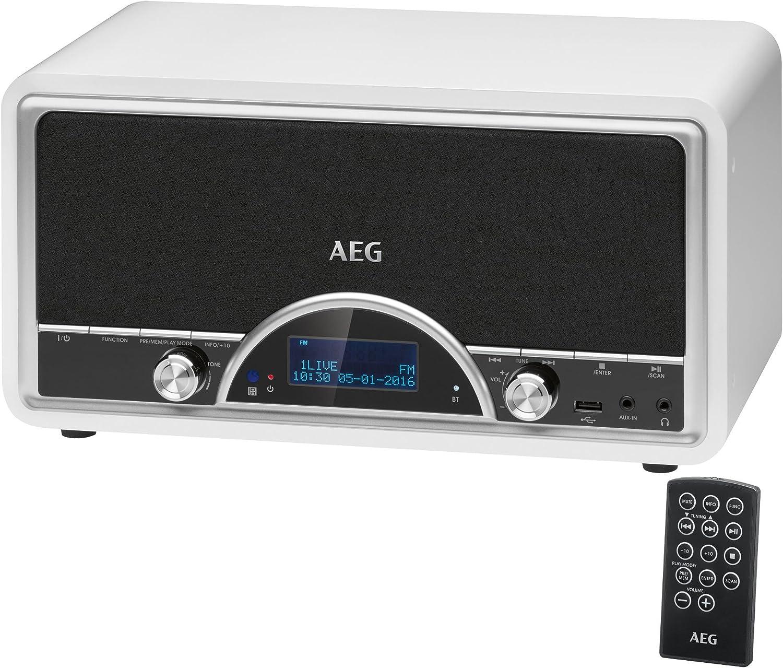 AEG NDR 4378Retro de Radio Digital con Bluetooth y Dab + AUX-IN Puerto USB Conector de Auriculares