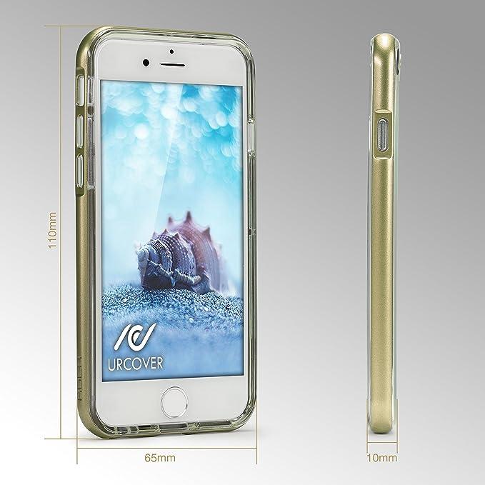 Urcover Cover Luminosa Apple iPhone 6 / 6s | Custodia Trasparente Che Si Illumina in Chiamata | Cornice con Illuminazione Flash LED Intermittente in ...