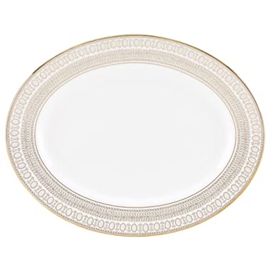 Lenox Marchesa Gilded Pearl Oval Platter, 13 , White