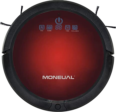 Moneual Ultrasonic Smart Navigation Robot aspirador, Rojo y negro: Amazon.es: Hogar