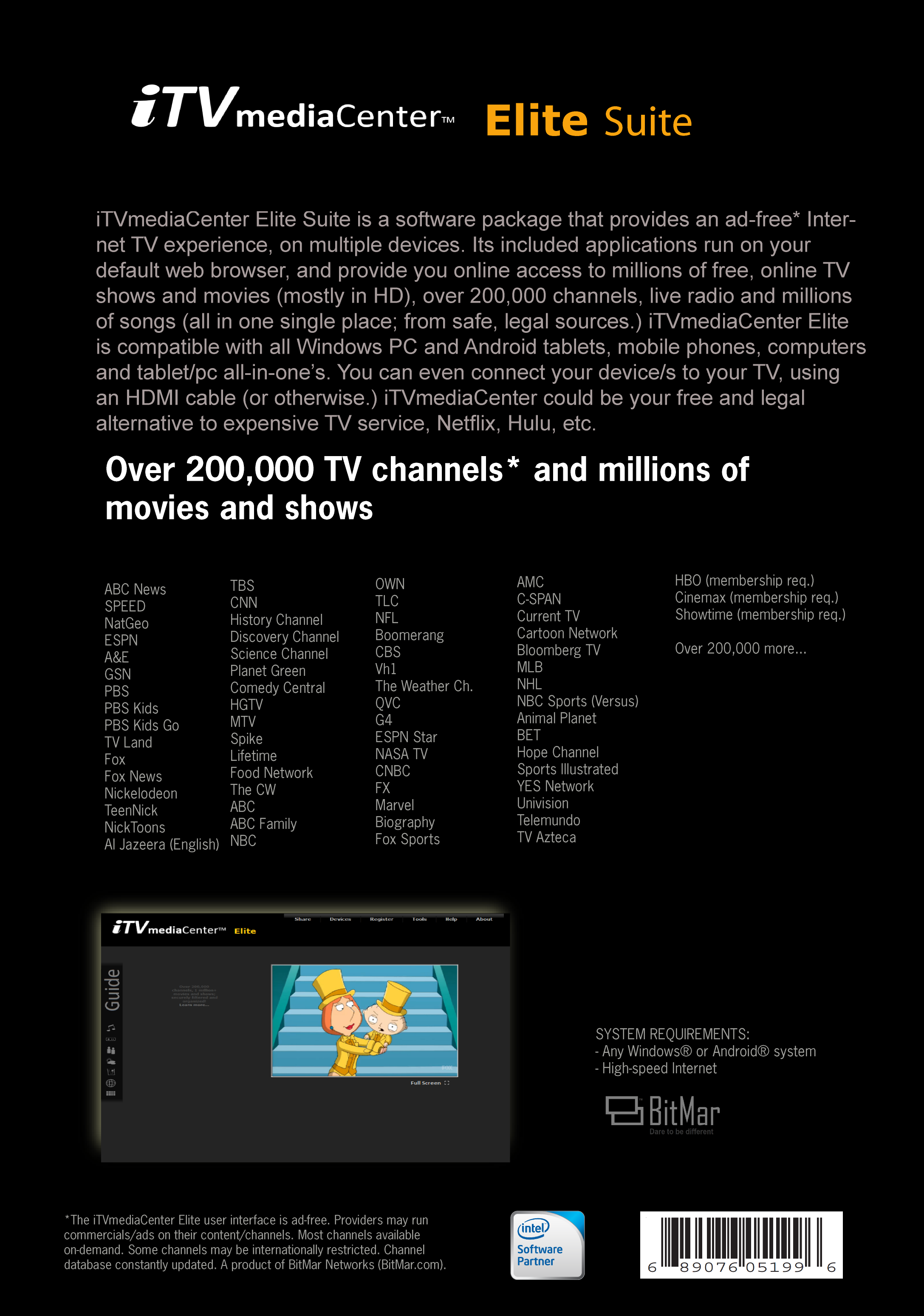 iTVmediaCenter Elite Suite [Download]: Amazon co uk: Software