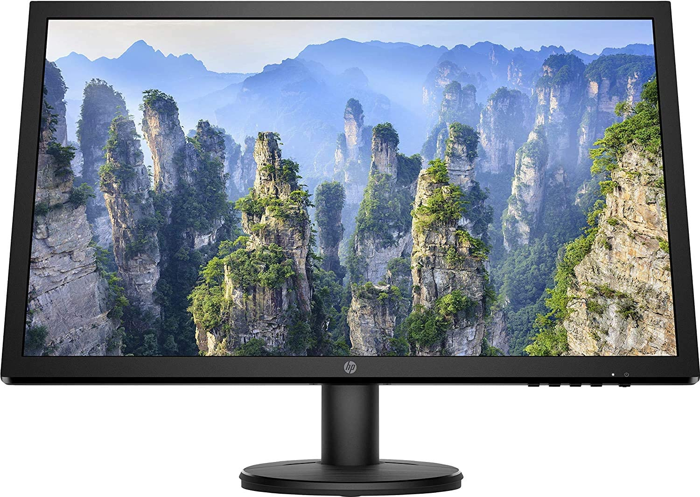 "HP V24 - Monitor de 24"" FHD 1920 x 1080, 16:9, 1 VGA; 1 HDMI 1.4 (compatible con HDCP, Antirreflectante; Modo Low Blue Light), Negro (9SV73AA)"