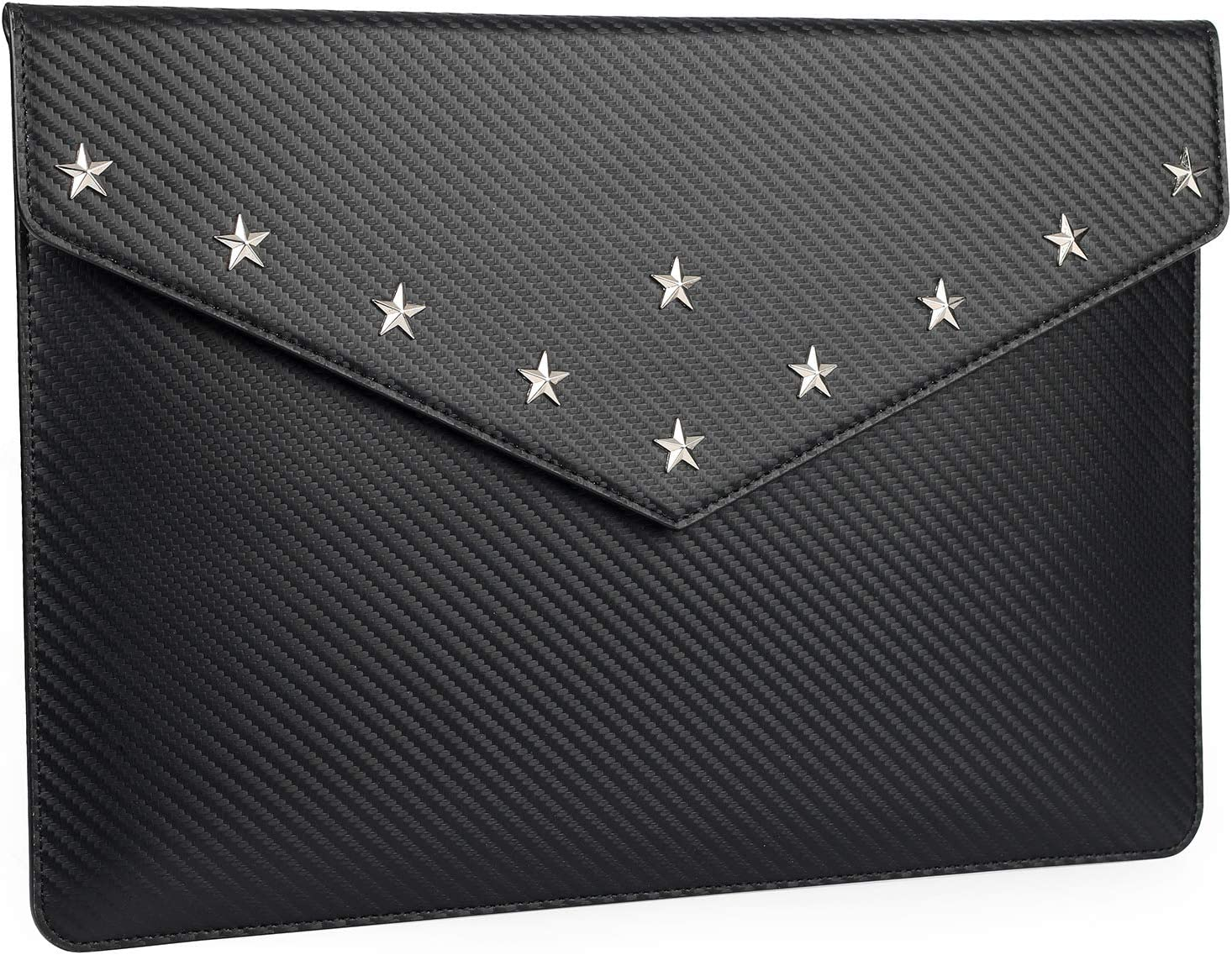 Laptop Sleeve for 13/13.3 Inch MacBook Air,MacBook pro Water-Resistant Notebook Cover Bag PU Leather Envelope Carrying Case
