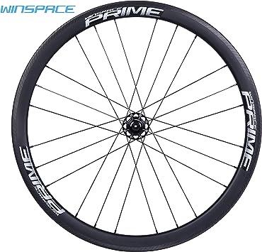 Winspace - Juego de Ruedas para Bicicleta de Carretera (Fibra de ...