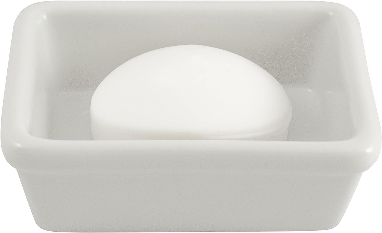 HIC Soap Dish, Fine White Porcelain