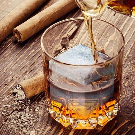 Payxuan - Molde de Silicona para Cubitos de Hielo, cócteles, Bebidas, Cerveza, Whisky, Color Negro, 2