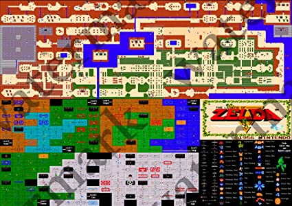 Legend Of Zelda Map All Secrets And Items And Dungeons Fine