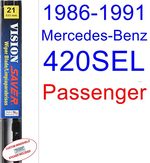 Amazon.com: 1986-1991 Mercedes-Benz 420SEL Wiper Blade (Driver) (Saver Automotive Products-Vision Saver) (1987,1988,1989,1990): Automotive