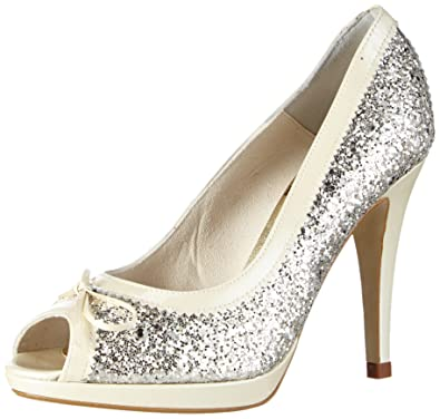 Elsa Coloured Shoes , Escarpins peep-toe femme - ivoire - ivoire, 37,5 EU