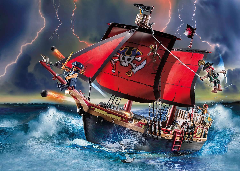 PLAYMOBIL Pirates - Barco Pirata Calavera, A partir de 4 Años ...