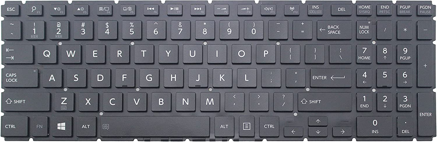 US layout glossy black color CHNASAWE Laptop Replacement keyboard with backlit for Toshiba Satellite S55T-B5136 S55T-B5150 S55T-B5152 S55T-B5158 S55T-B5260 S55T-B5273NR S55T-B5335