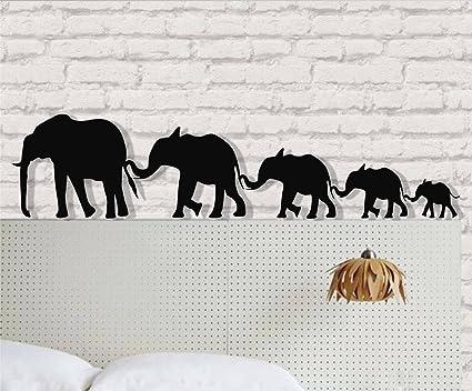 Amazoncom Dekadron Elephant Wall Art Big Elephant Family 3d
