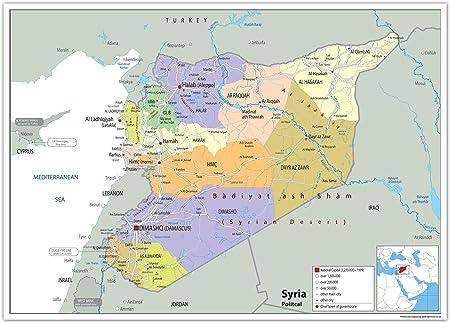 Cartina Mondo Siria.Siria Mappa Politica Carta Plastificata Ga A0 Size 84 1 X 118 9 Cm Amazon It Cancelleria E Prodotti Per Ufficio