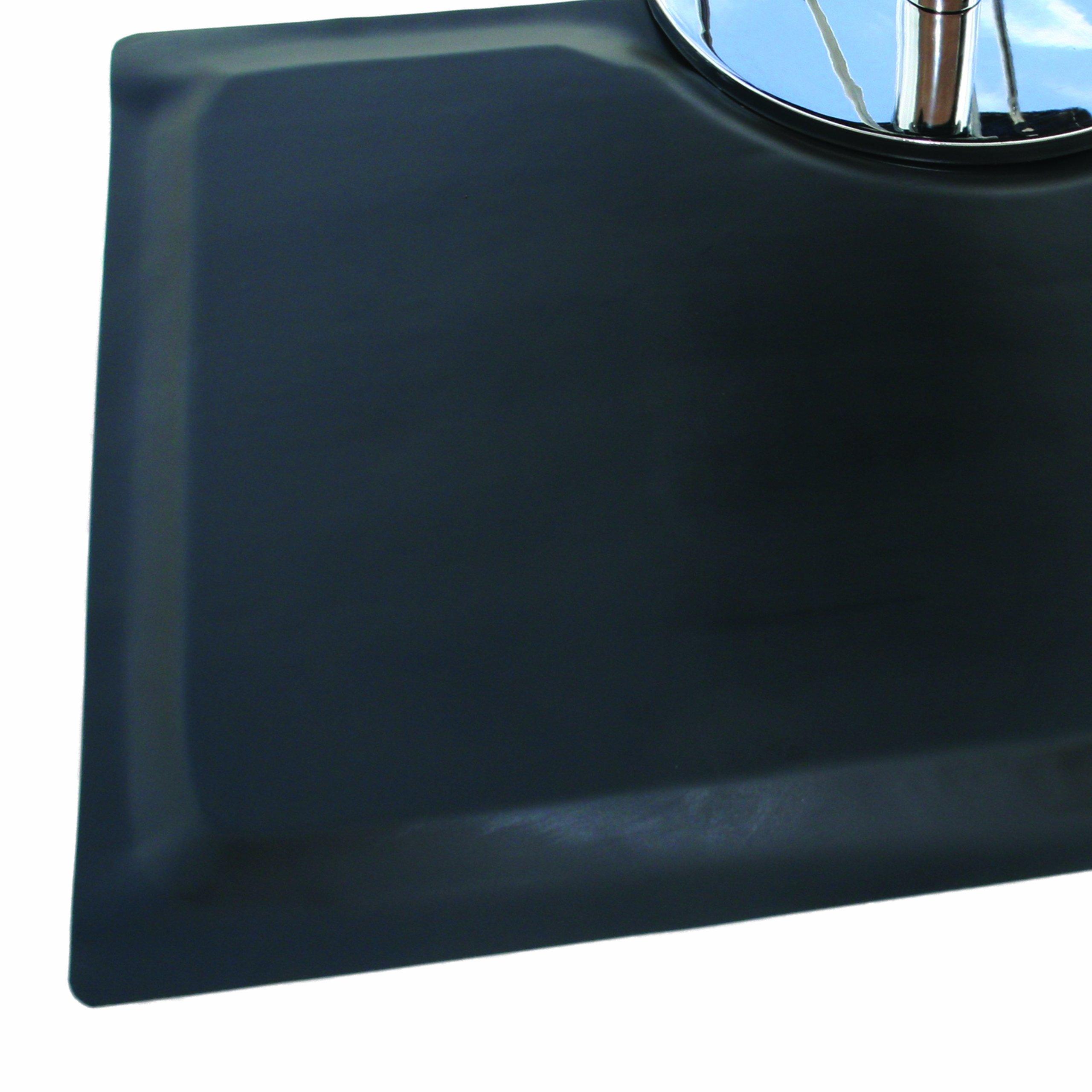 Rhino Mats XF-2436 Xtra-Flex Foam Salon Shampoo Mat, 2' Width x 3' Length x 7/8'' Thickness, Black by Rhino Mats