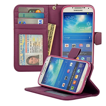 Amazon navor protective flip wallet case for samsung galaxy navor protective flip wallet case for samsung galaxy s4 purple s4o pp ccuart Image collections