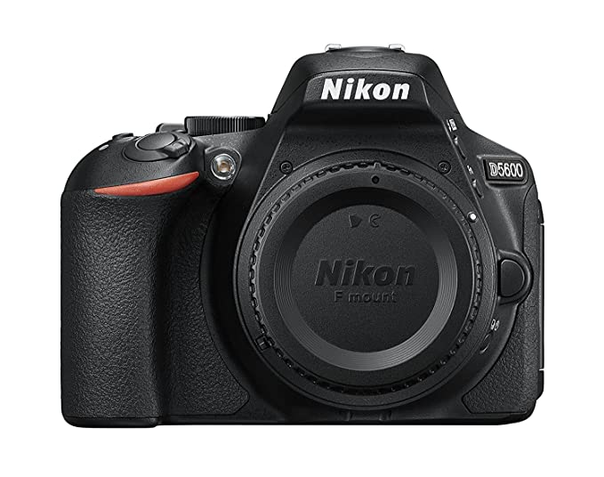 Nikon D5600 DX-Format Digital SLR Body (Black) Digital SLR Cameras at amazon
