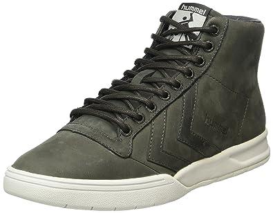 hummel Hml Stadil Winter High Sneaker, Sneakers Hautes Mixte Adulte, Gris (Beluga), 38 EU