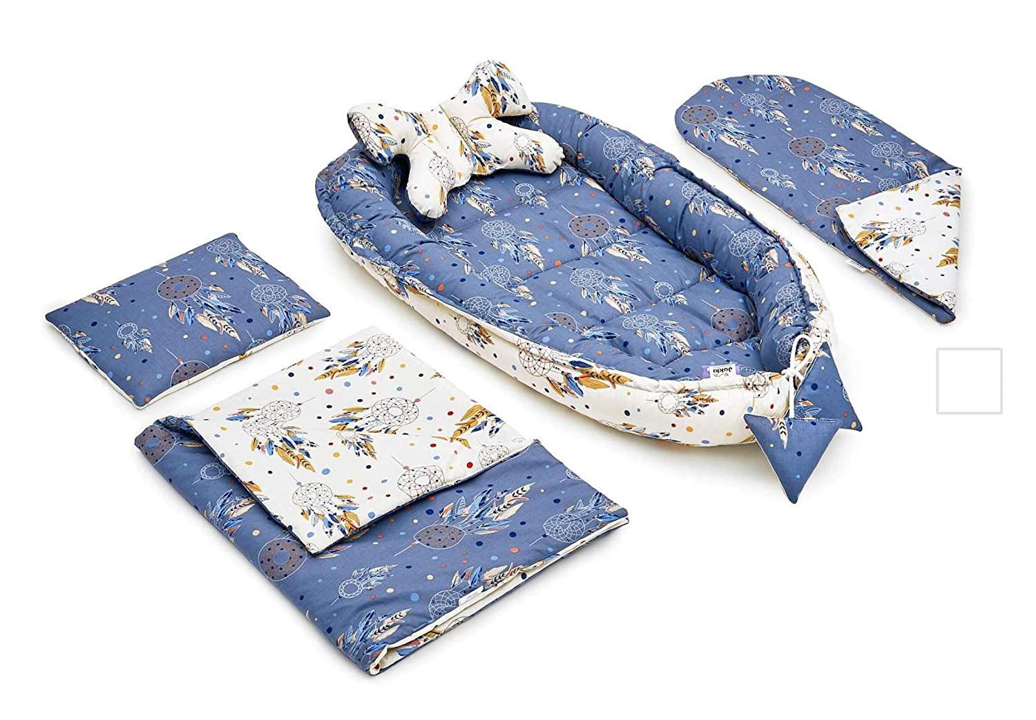 Square Corners Bluemoon Bedding/® SAPLINGS KATIE CRIB SAFETY MATTRESS 73 x 35 CM Quilted cover
