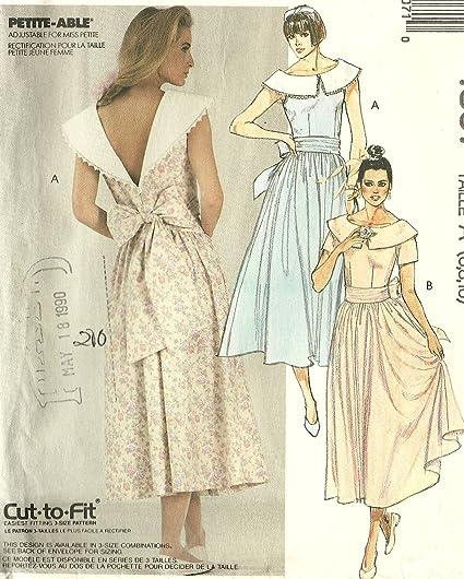 Amazon.com: McCall\'s vintage sewing pattern 4807 portrait collar ...