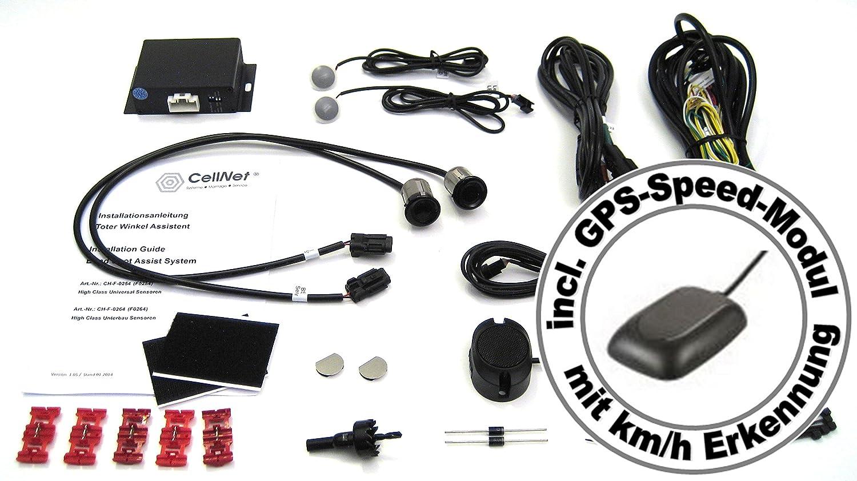 Cellnet Toter Winkel Assistent Spurwechsel Assistent Mit Universal High Class Sensoren Und Gps Speed Modul Auto