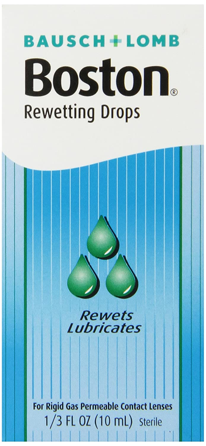 Boston Rewetting Drops for Rigid Gas Permeable Contact Lenses, 1/3 Ounce Bottle 5509