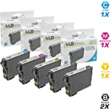 LD Products Remanufactured Ink Cartridge Replacement for Epson 220 ( Black,Cyan,Magenta,Yellow , 5-Pack )