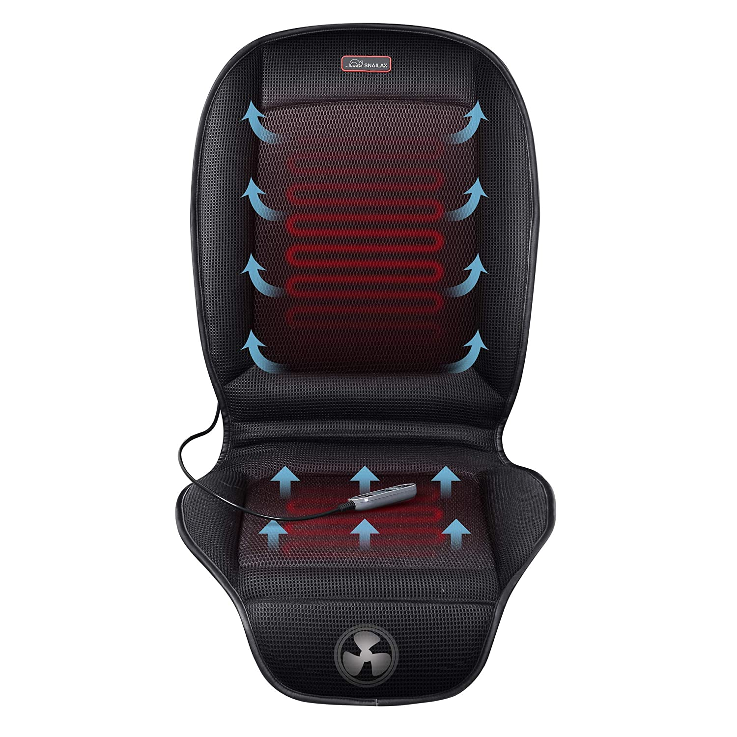 SNAILAX Seat Cushion with 3 Levels Cooling and 2 Levels Heating Image