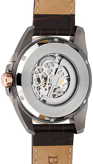43261dba8 Bulova Men's Mechanical Hand Wind Stainless Steel and Leather Dress Watch,  Color:Brown (Model: 98A165): Bulova: Amazon.ca: Watches