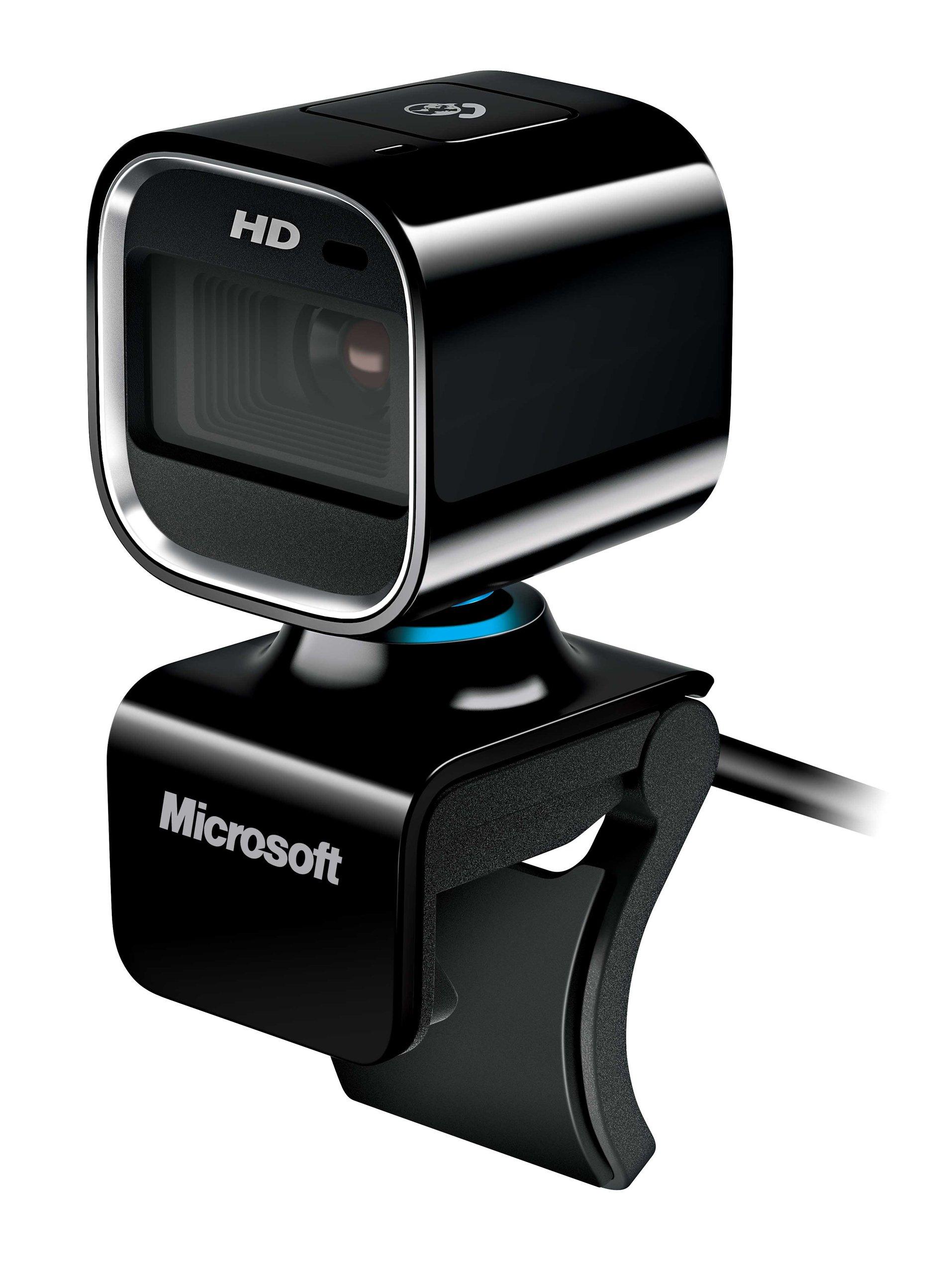 Microsoft LifeCam HD-6000 720p HD Webcam for Notebooks - Black