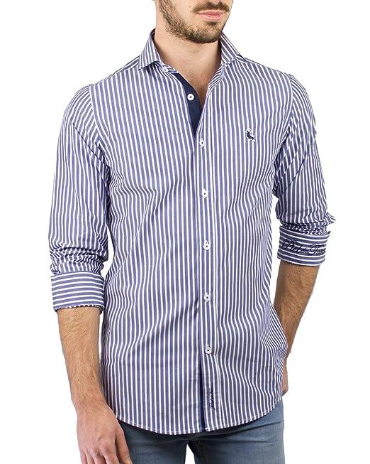 Piel de Toro Básica Rayas Verticales, Camisa Casual Para Hombre: Amazon.es:  Ropa y accesorios