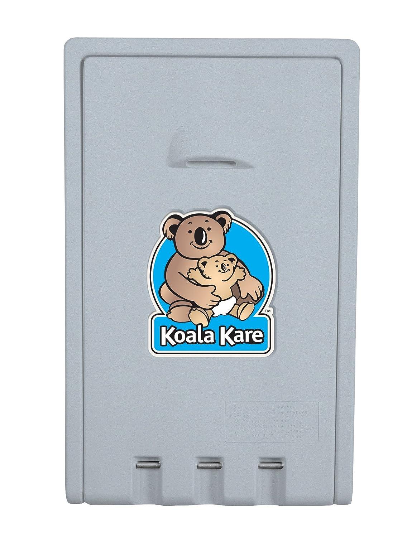 "Bobrick KB101-00 Koala Kare High Density Polyethylene Vertical Wall Mounted Baby Changing Station, Cream Finish, 22"" Width x 35-1/2"" Height"