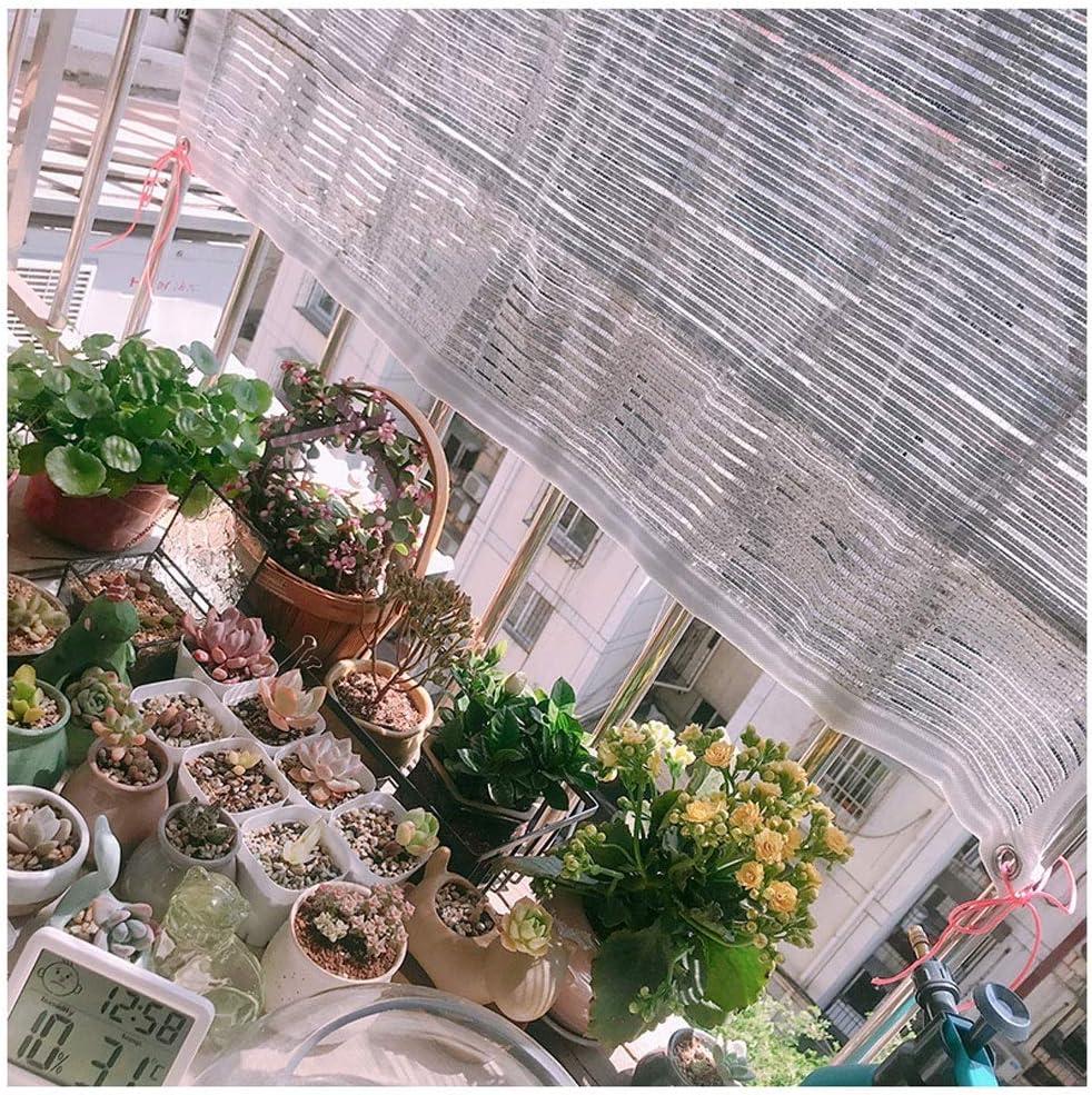 Reflektierend Aluminet Schatten Tuch 6.6x6.6ft 80/% Wei/ß Schatten Tuch Draussen Sonnenschutznetz,UV Best/ändig Schatten Stoff Sonnencreme zum Garten Terrasse Sun-Block Mesh Pergola Abdeckung /Überdachung