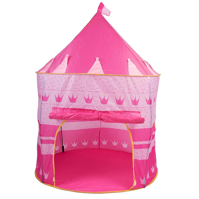テント夢のガールズ再生プリンセスPlayhouse Castle Pop Up寝室インドアアウトドアBig子子供ポータブルピンク家キュートPlayroom & eBook B075HXY1RK
