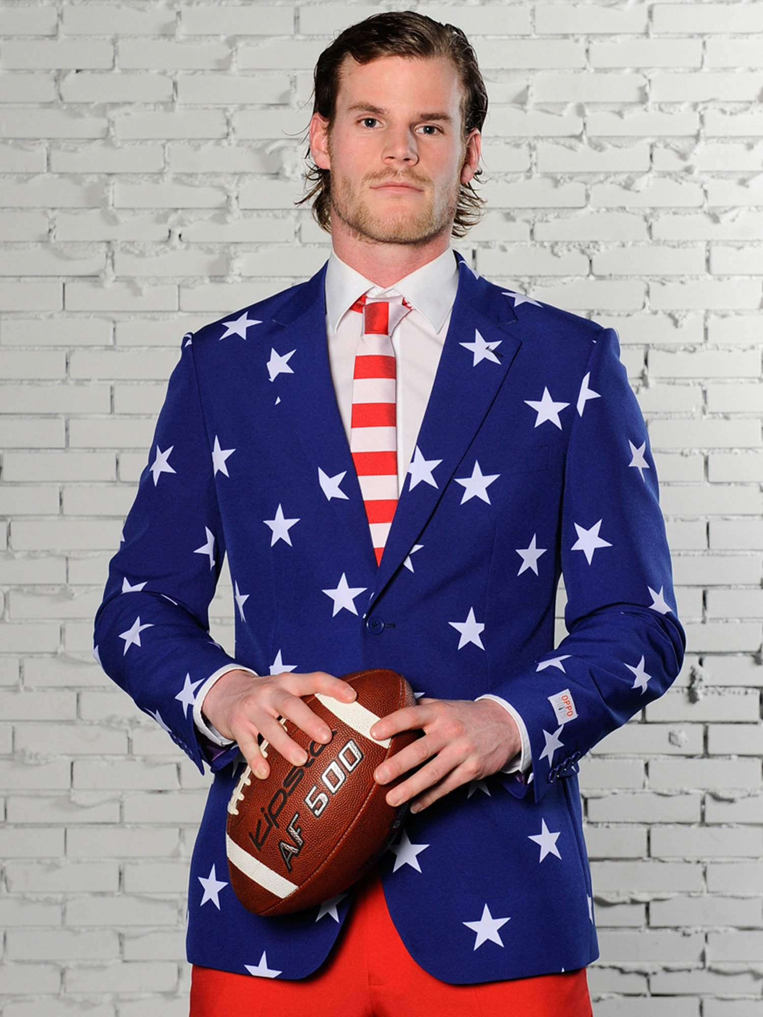 Opposuits Fancy Colored Suit For Men Now With Free Prom King and Prom Queen Sash,Stars and Stripes,US40 by Opposuits (Image #4)