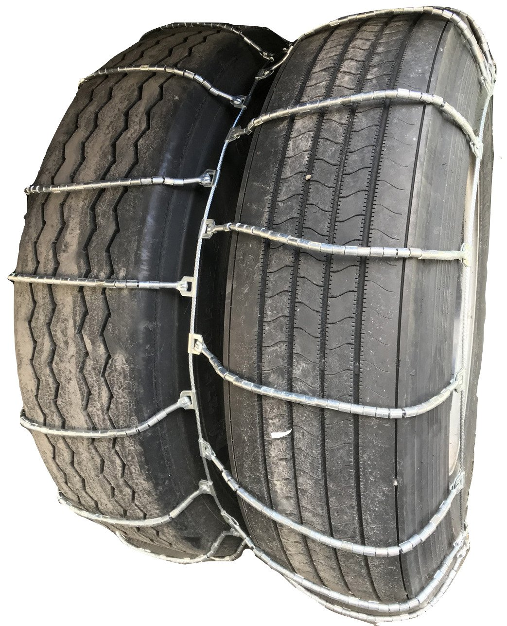 TireChain.com 4317 12R24.5, 12 24.5 Dual Cable Tire Chains with Cam