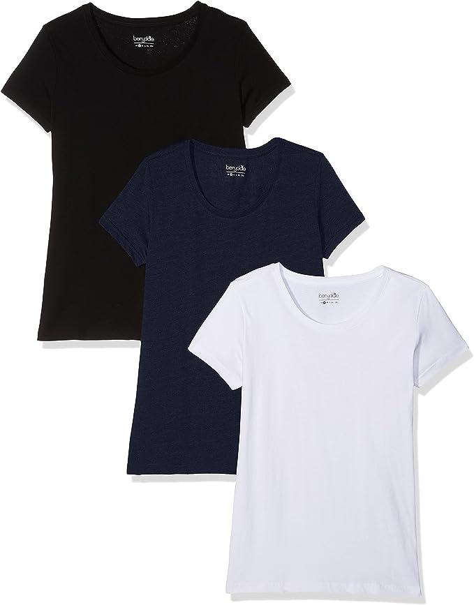 Berydale Camiseta Para Mujer, Pack de 3: Amazon.es: Ropa y accesorios
