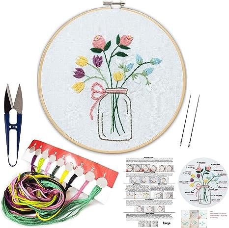 Three Flowers Needlepoint Kit