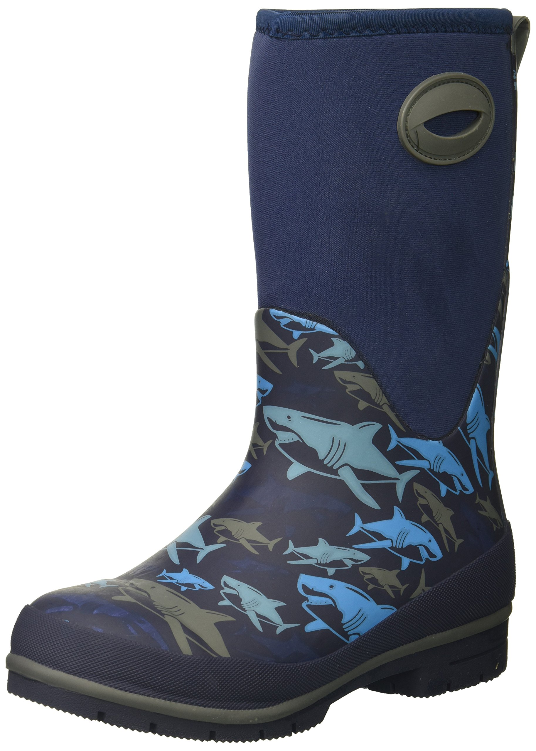 Western Chief Cold Rated Neoprene Boot with Memory Foam Snow, Shark Attack, 12 M US Little Kid